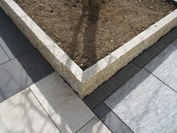 Granit gelb/grau Mauerstein