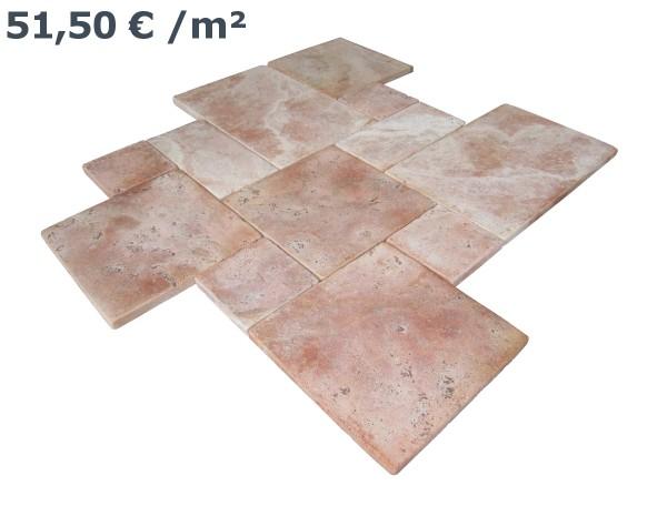 Travertin Rot Römischer Verband (VE1,5 m²)