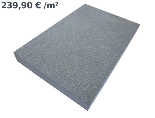 Gabro Ebony Black Bodenplatten 60/40/6 cm