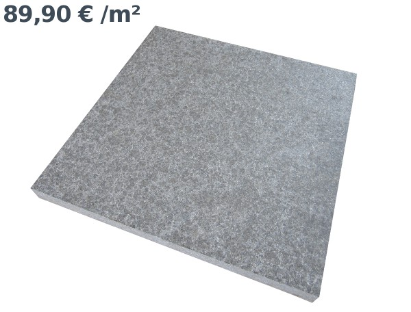 Basalt Windsor Black Bodenplatten 60/60/3 cm
