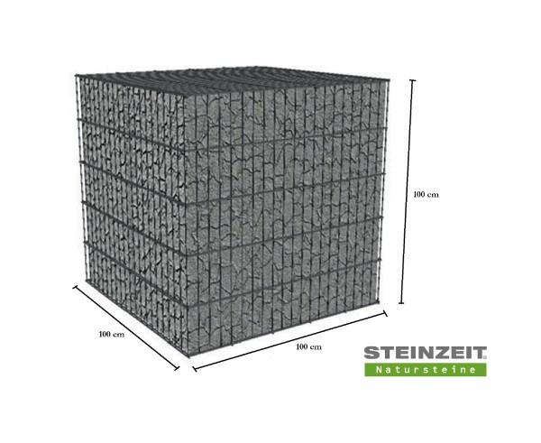 Rawe Steinkorb 100/100/100 cm (LxBxH) Füllung Kalkstein Beige Bunt