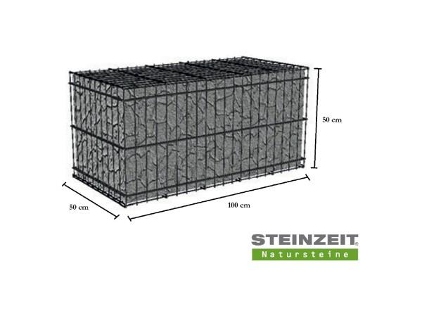 Rawe Steinkorb 100/50/50 cm (LxBxH) Füllung Kalkstein Beige Bunt