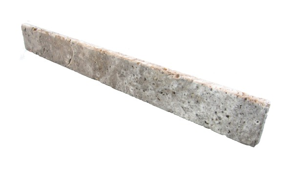 Travertin Sockel Silber 35-60 / 7 / 1,5 cm