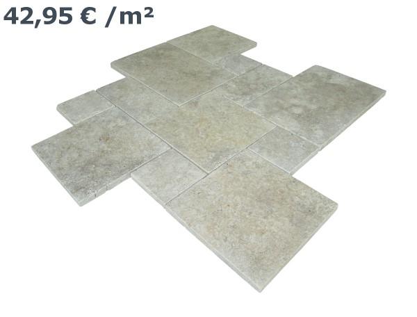Travertin Beige Römischer Verband (VE1,5 m²)