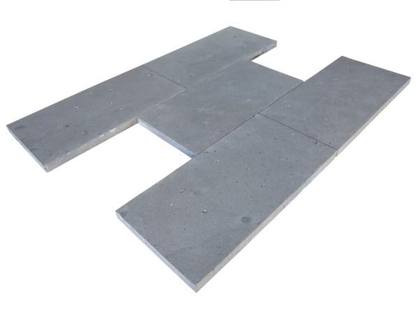 Basaltlava Bodenplatten 40/3 freie Längen