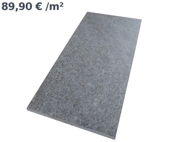 Basalt Windsor Black Bodenplatten 80/40/3 cm