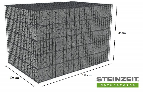 Rawe Steinkorb 150/100/100 cm (LxBxH) Füllung Kalkstein Beige Bunt