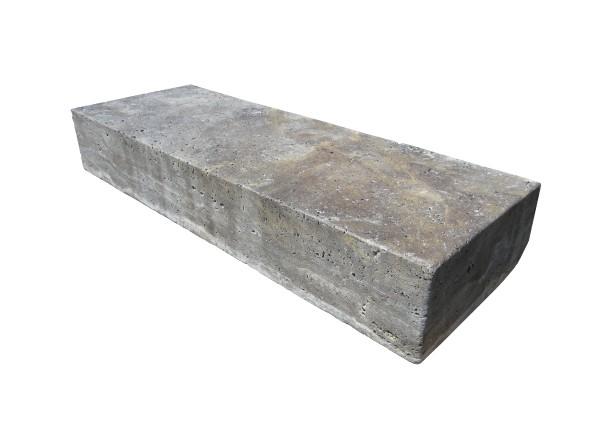 Travertin Silber Blockstufen 100/33-37/14-16 cm
