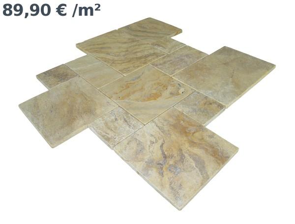 Travertin Gelb Römischer Verband (VE1,5 m²)